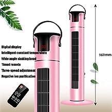 NFJ Calefactor Cerámico Vertical, 2000 W, 2 Posiciones De Calor 1000 W Y 2000 W, Función Ventilador, Oscilante, Asa De Transporte,Pink-96cm-Remote