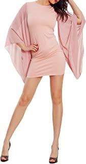 Toocool - Vestito Donna Mini Abito Maniche Campana Ampie velate Elegante VB-4488