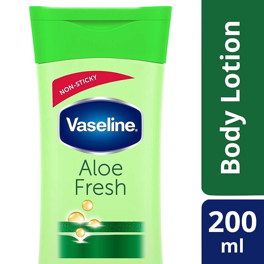 ハッピー慣習化学薬品Vaseline Intensive Care Aloe Fresh Body Lotion, 200 ml