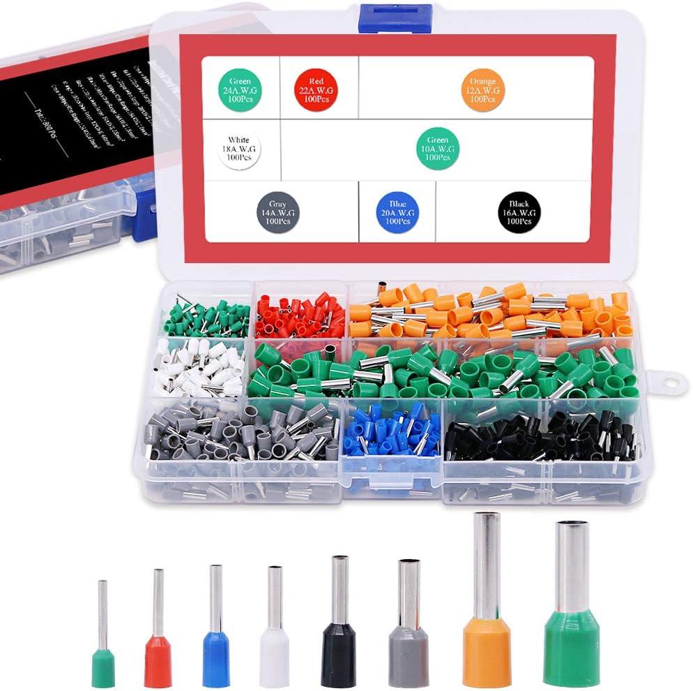 Cheap bargain Hilitchi 800pcs 10-24 A.W.G Wire Crimp Copper Insulate Topics on TV Connector