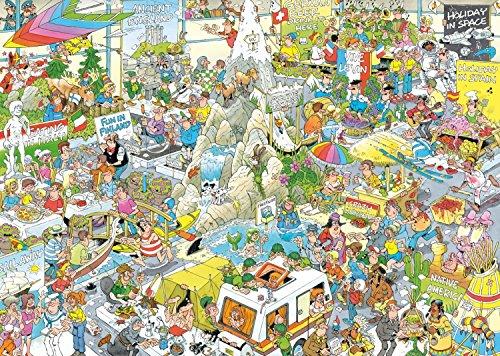 Jumbo 19051 Puzzle Jan Van Haasteren-Die Urlaubsmesse, 1000 Teile