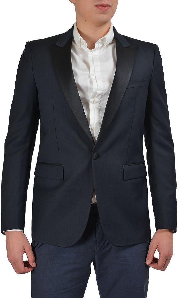 Just Cavalli Men's Navy Virgin Wool Tuxedo Suit US 38 IT 48