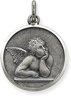 925 Sterling Silver Raphael Angel Pendant Charm Necklace Religious Patron Saint Medal St Fine Jewelry Gifts For Women For Her