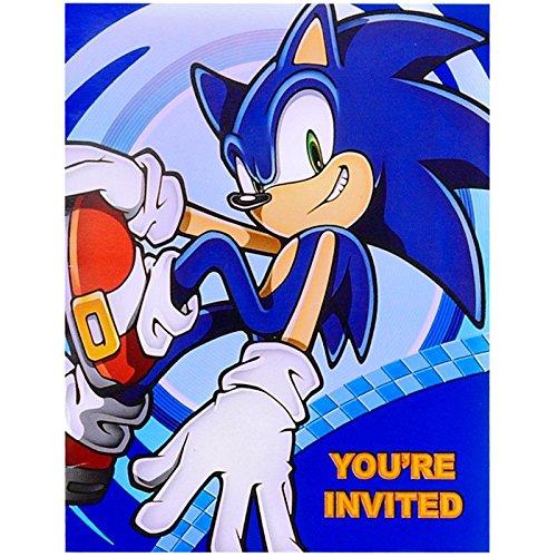 Sonic the Hedgehog Birthday Invitations (Set of 16)