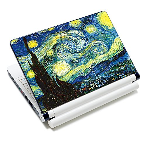 """Laptop Skin Sticker Decal,12"""" 13"""" 13.3"""" 14"""" 15"""" 15.4"""" 15.6 inch Laptop Skin Sticker Cover Art Decal Protector Notebook PC (Starry Night)"""