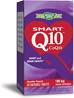 Enzymatic Therapy Smart Q10, CoQ10, 100 mg, 30 Chewable Tablets