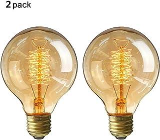 Edison Glühbirne E27 Fassung, Dimmbar, Warmweiß, Antike Filament Beleuchtung im Retro Vintage Look