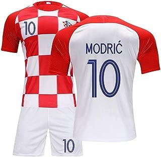 Hhwei Football Soccer Kids Jersey Short Socks Set Youth Sizes Croatia National Football Team #10 Luka Modric,XXXXS