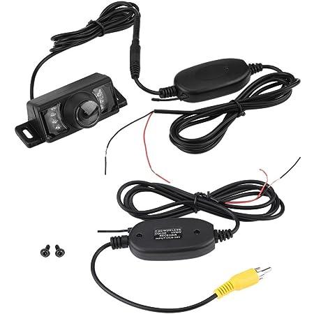 Keenso Rückfahrkamera Drahtloser Sender 7 Stücke Led Wireless Auto Rückfahrkamera Nachtsicht Ir Wireless Rca Video Sender Empfänger Auto