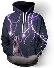 Men 3D Printed Pattern Hoodie Rainbow Starry Galaxy Loose Long Sleeve Hooded
