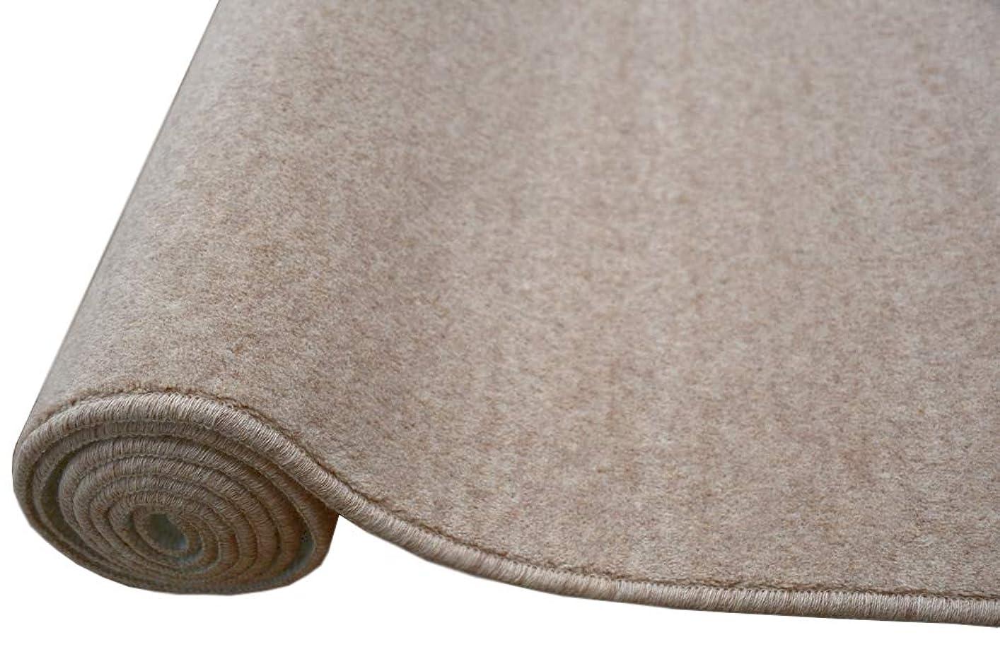 レコーダーセマフォアコード3畳 カーペット ウール 絨毯 じゅうたん 防炎 防音 3帖 【W-500】 サイズ176×261cm ベージュ色