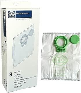 Sebo Airbelt Series D1, D4, & D4 Premium Canister Vacuum Filter Bags 8 Pk Genuine Part # 8120AM, 8120ER