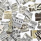 BLOUR 46 unids/Set Pegatinas de periódico Vintage Pegatinas de Etiquetas Adhesivas Pegatinas de Palo de álbum de Recortes Diario
