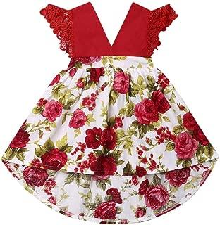 Toddler Baby Girl 2Pcs Romper + Headband Floral Sleeveless Lace Infant Newborn Jumpsuit Sets