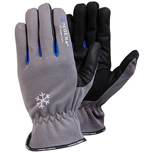 Ejendals Handschuh Tegera 417 aus Synthetikleder, Größe 8, 1 Stück, grau/schwarz, 417-8