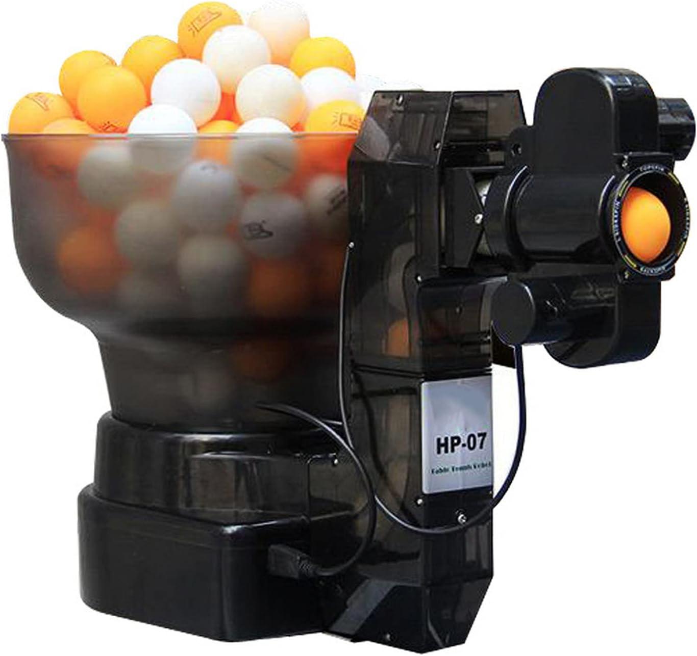 LifBetter Máquina de ping pong automática - Máquina de entrenamiento para ping pong - Capacidad para aproximadamente 100 bolas de ping pong - Rotación automática a 7 velocidades
