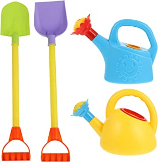TOYANDONA Kids Gardening Set Colorful Children Garden Tools with Sand Shovel and Watering Can Toys Beach Toys Flower Plant...