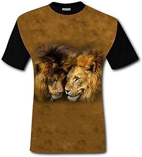 BlountDecor Cotton T-Shirt,Geometric British Pattern Fashion Personality Customization