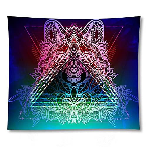 KHKJ Tapiz de Lobo, Tela Negra para Colgar en la Pared, hogar, Dormitorio, Arte, Fondo, decoración, Manta A5 200x180cm