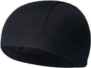 WINOMO Dödskalle keps snabbtorkande sport svett mössa hög elasticitet cykelkepsar pannband svettband för man kvinna (mörkgrå)