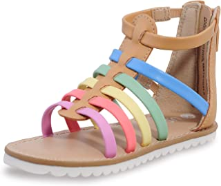 Sponsored Ad - shoeslocker Girls Gladiator Sandals Toddler Girls Sandals Little Kids Summer Flats Sandals Non Slip Rubber ...