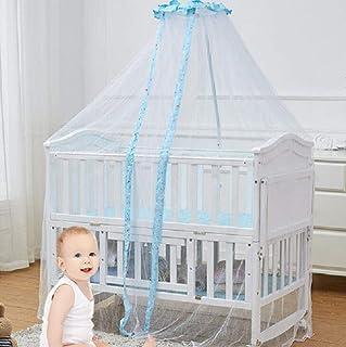 JBHURF Mosquitera para niños Pabellón Abierto Universal Cuna para Mosquitos Tipo de Corte de cúpula Bebé Mosquito Cuna mosquitera para Varios Modelos de Camas (Color : Blue)