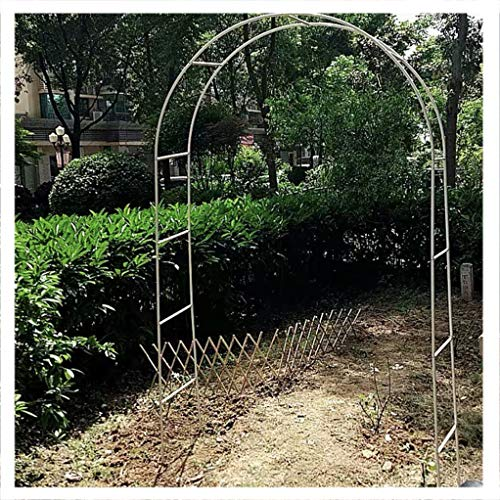 Garden Arch Metal Arch Pergola Support Frame,Garden Arbor Arbour Archway for Climbing Plants Roses Vines,Outdoor Lawn Backyard Patio,Black