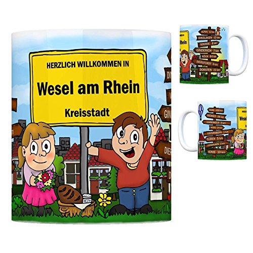 trendaffe - Herzlich Willkommen in Wesel am Rhein Kaffeebecher