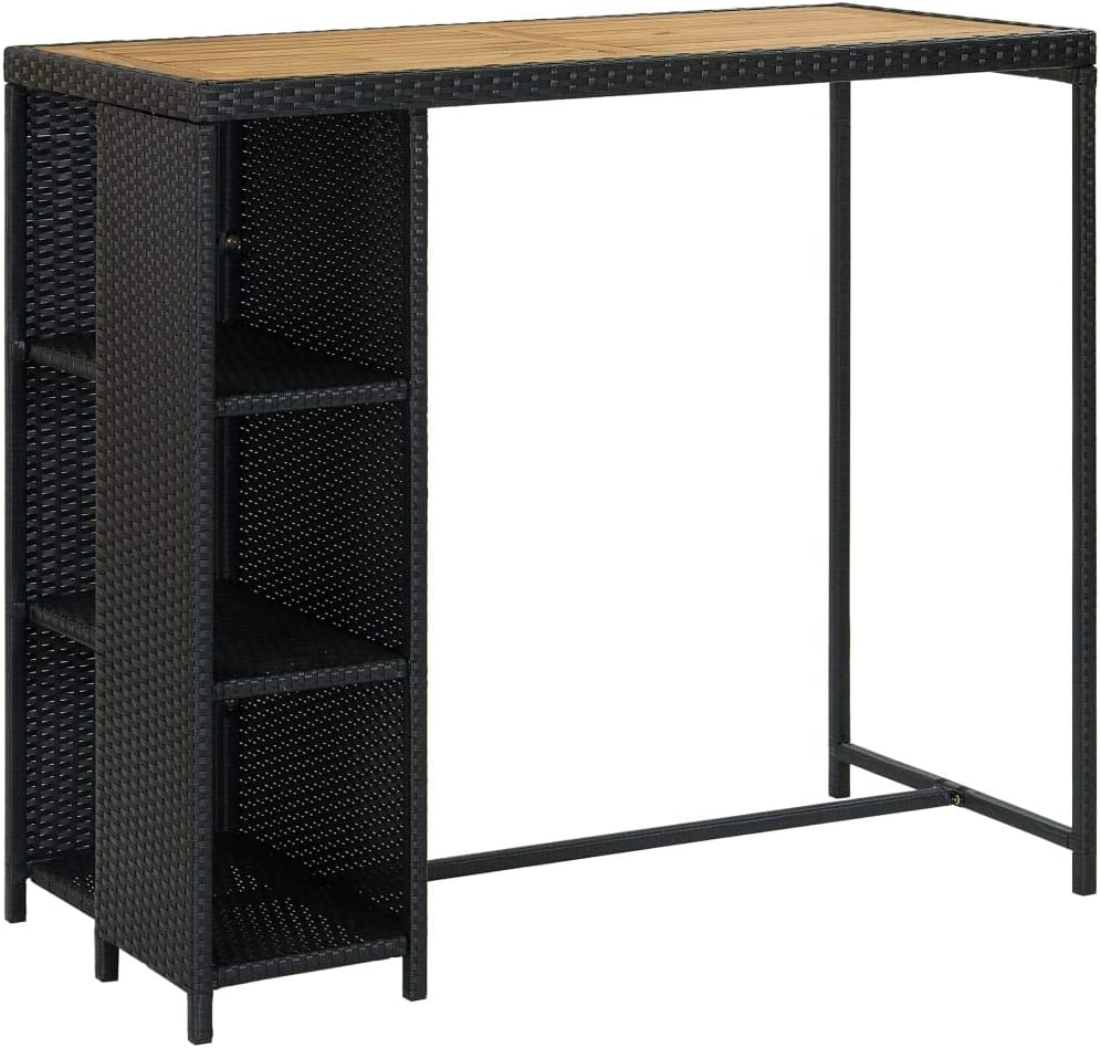 Poly Rattan Max 79% OFF Furniture Dining Bar Lowest price challenge Counter Indo Table