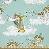 ABAKUHAUS Engel Stoff als Meterware, Harfe Spielen im