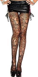 MUSIC LEGS Women's Spider Web Spandex Pantyhose