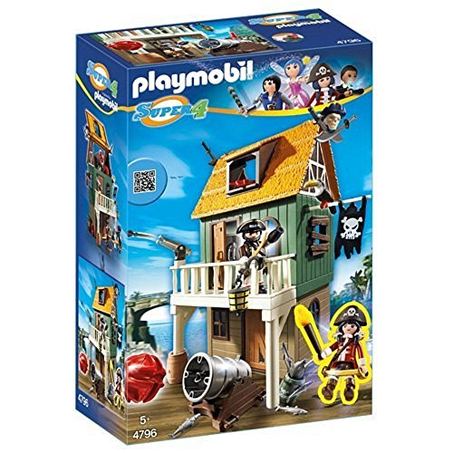 Playmobil 4796 - Super 4 - Forte Dei Pirati Mimetico + Ruby