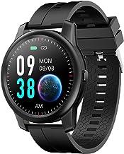 Elephone Smartwatch voor heren, IP67, 360 x 360 pixels, activiteitentracker, waterdicht, hartslagmonitor, calorieënteller,...