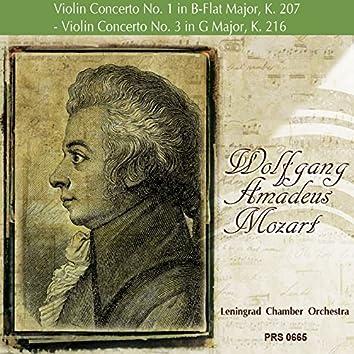 Mozart: Violin Concerto No. 1 in B-Flat Major, K. 207 - Violin Concerto No. 3 in G Major, K. 216