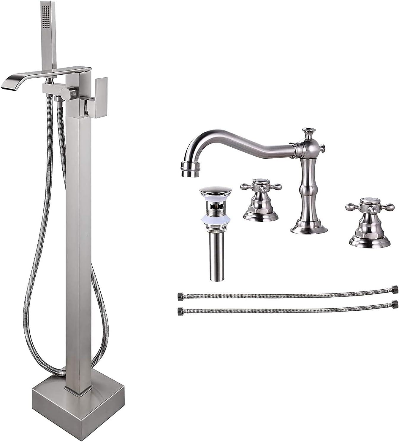 Max 77% OFF Waterfall Freestanding Bathtub Max 54% OFF Faucet Floor Handle Mount Single