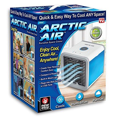Hery Climatiseur Portable,Ventilateur USB Muitifonction 3 en 1Mini Climatiseur Humidificateur Purificateur 7 LED Couleurs pour Maison/Bureau/Camping Puissance