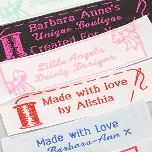 50 Personalized 100% Woven Sewing Labels 1