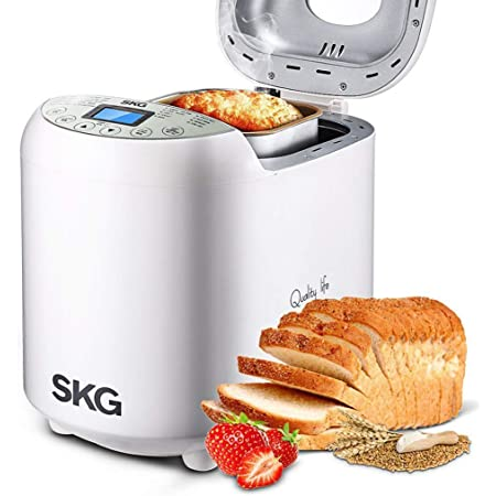 SKG 2LB Automatic Programmable Bread Machine Multifunctional Bread Maker-White