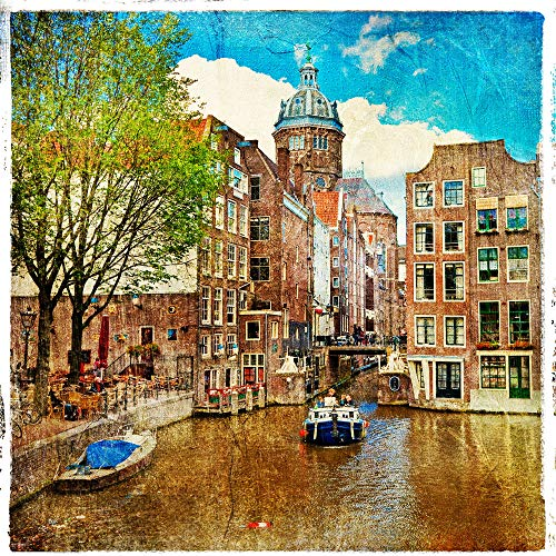 LTpintu Puzzles for Adults 1000 Pieces Wood Puzzles Water City Very Challenging Adult and Teen Casual Jigsaw Puzzle Gifts 75x50cm(29.5x19.7 inch)