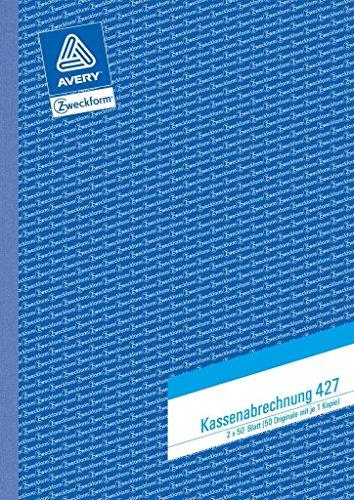 Kassenbuch A4/2x50BL ZWECKFORM 427