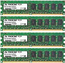 A-Tech 8GB KIT (4 x 2GB) for HP-Compaq Workstation Series xw4300 (ECC Unbuffered) xw4300/CT (ECC Unbuffered) xw4400 (ECC Unbuffered). DIMM DDR2 ECC Unbuffered PC2-5300 667MHz Single Rank RAM Memory