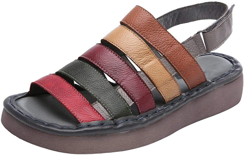 Fuxitoggo Der Sommer-Strand der Frauen beschuht runde Zehe Bunte Sandalen, die Schuhe gehen (Farbe   Grau, Gre   5 UK)