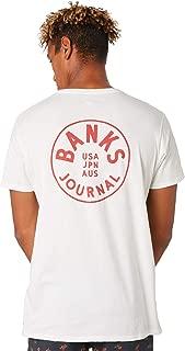 Banks Men's Spinner Mens Tee Short Sleeve Cotton Black