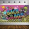 80年代パーティーデコレーション 特大ファブリック 80年代のヒップホップサイン パーティーバナー フォトブース背景幕 壁装飾キット 80年代のパーティー用品 70.8 x 43.3インチ