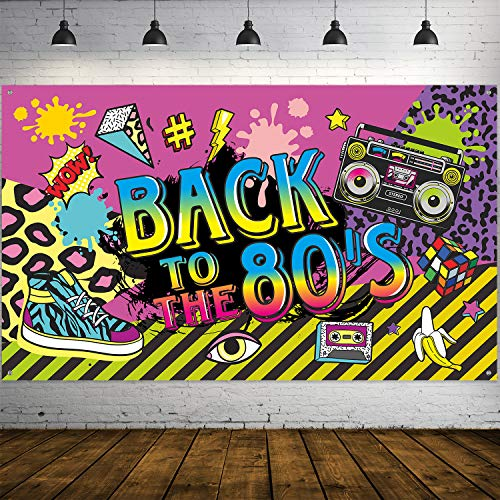 Back To The 80's Giant Hip Hop Theme Wall Banner. Will brighten up any wall to give your party the finishing touch!