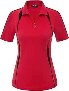 Women Short Sleeve Moisture Wicking Sport Golf Polo Shirt Tops
