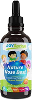 Best Cough Syrup for Kids - Liquid Childrens Cough Drops for Congestion, Elderberry Cough Suppressant for Fast Cough Relief, Nature Nose Best, Cough Syrup for Kids, 1 oz