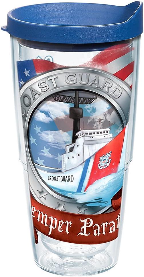 アラート統治可能ボードTervisタンブラーUS Military Coast Guardラップ24オンス