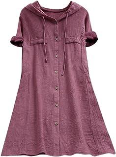 Xmiral Vrouwen Tops Knop Plus Size Tee Shirt Pocket Losse Lange Blouse