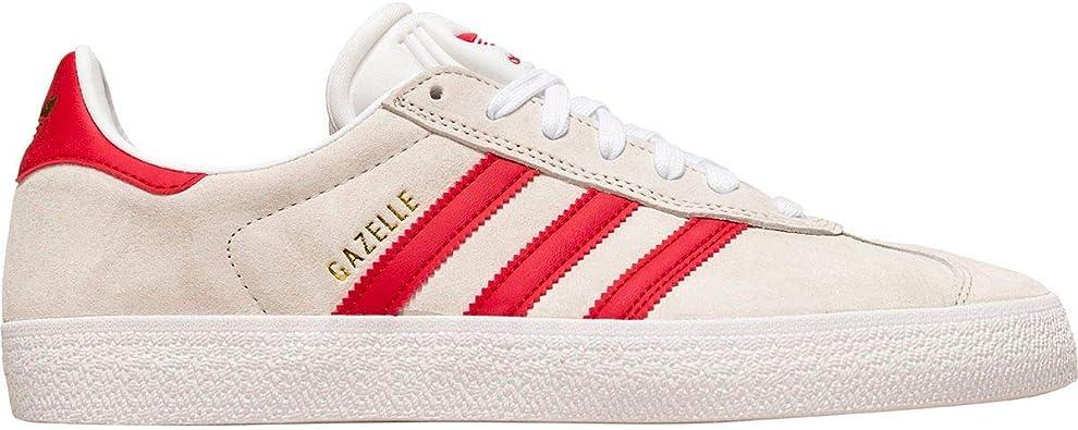 adidas Gazelle ADV Shoes - White/Scarlet/Gold Metallic
